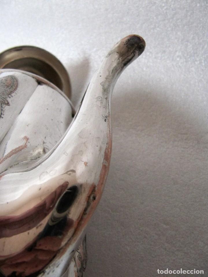 Antigüedades: Tetera INGLESA repujada electroplata 630 gramos SELLO WARRANTED ENGLISH ELECTROPLATE - Foto 8 - 90968910