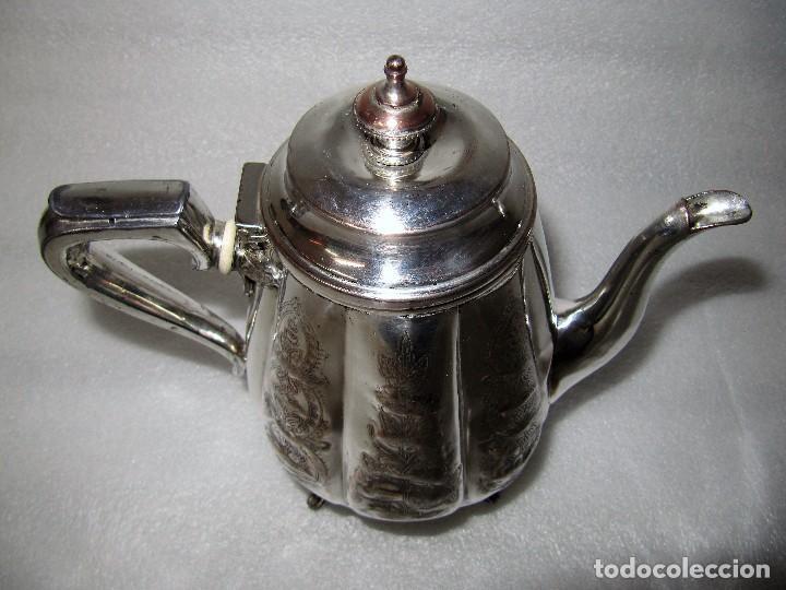 Antigüedades: Tetera INGLESA repujada electroplata 630 gramos SELLO WARRANTED ENGLISH ELECTROPLATE - Foto 10 - 90968910