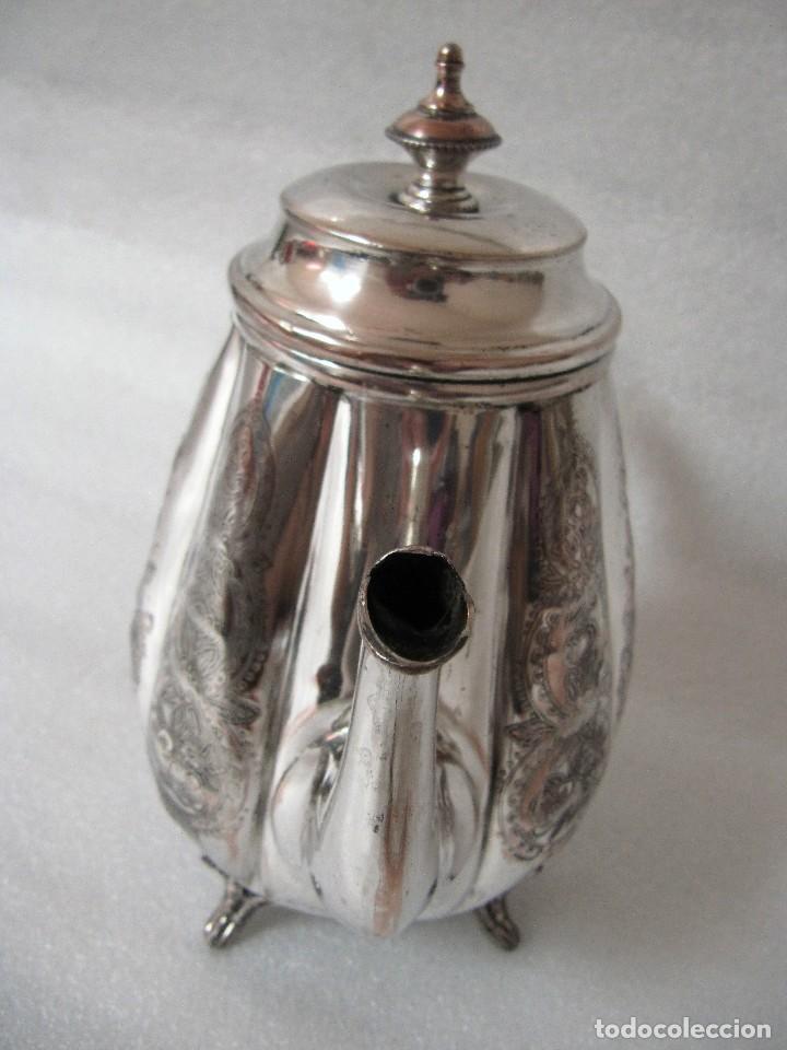 Antigüedades: Tetera INGLESA repujada electroplata 630 gramos SELLO WARRANTED ENGLISH ELECTROPLATE - Foto 12 - 90968910