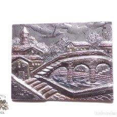 Antigüedades: CUADRITO DE PLATA DE LEY FIRMADO, Y CON CONTRASTE DE 925 - 8,3 X 6,2 CM. Lote 90969020