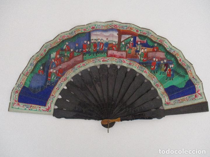 Antigüedades: Precioso Abanico de las Mil Caras - China - Caras en Marfil - Vestidos Seda - Dinastía Qnig - S. XIX - Foto 2 - 90980015