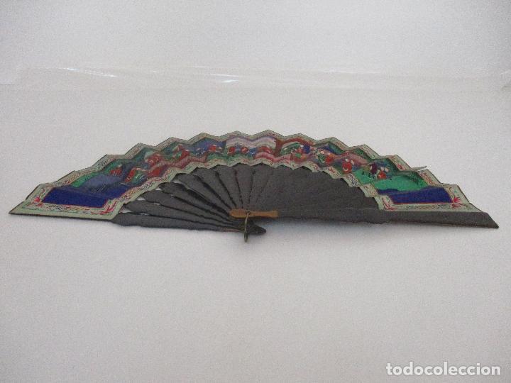 Antigüedades: Precioso Abanico de las Mil Caras - China - Caras en Marfil - Vestidos Seda - Dinastía Qnig - S. XIX - Foto 8 - 90980015