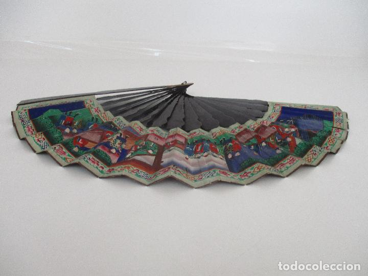 Antigüedades: Precioso Abanico de las Mil Caras - China - Caras en Marfil - Vestidos Seda - Dinastía Qnig - S. XIX - Foto 17 - 90980015
