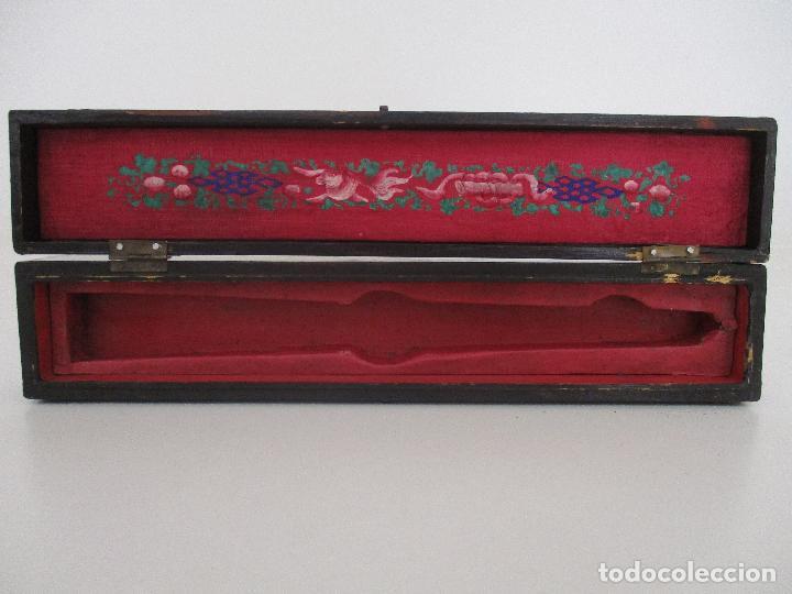 Antigüedades: Precioso Abanico de las Mil Caras - China - Caras en Marfil - Vestidos Seda - Dinastía Qnig - S. XIX - Foto 25 - 90980015