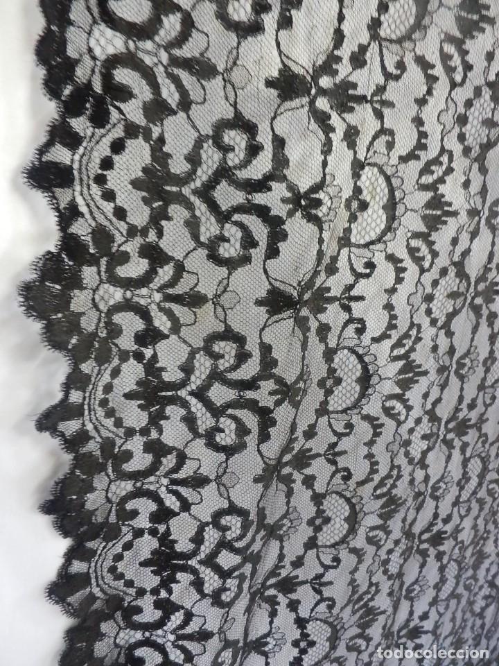 Antigüedades: 4052 Gran mantilla española de seda lasa años 1920 - Foto 4 - 95980823