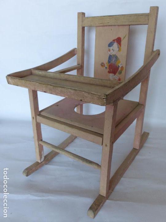 antigua trona o silla de bebe mecedora con boni - Comprar Sillas ...