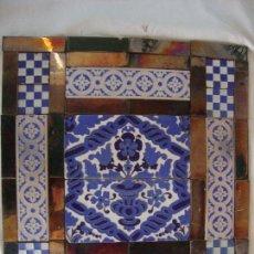 Antigüedades: COMPOSICION DE AZULEJOS RAMOS REJANO SIGLO. Lote 91163990