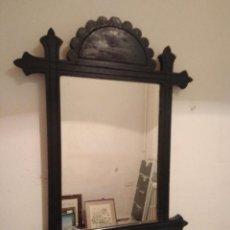 Antigüedades: ANTIGUO ESPEJO DE MADERA. Lote 91241360
