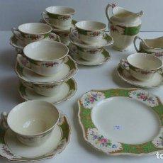 Antigüedades: JUEGO DE CAFE PORCELANA INGLESA J.&G.MEIKEN. Lote 91251675