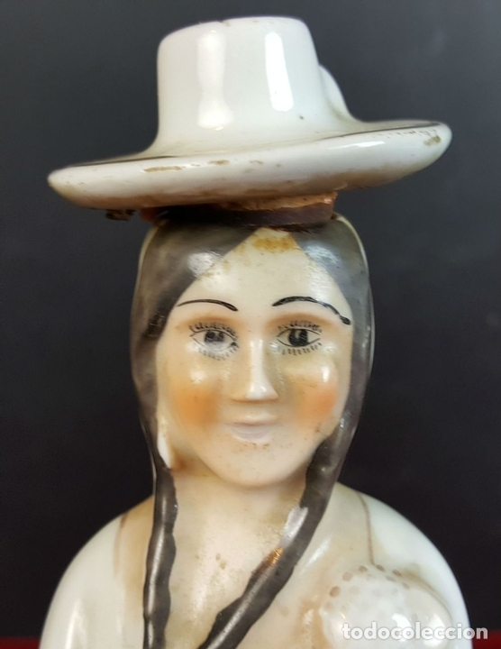 Antigüedades: BOTELLA DE VINO EN PORCELANA ESMALTADA. SANTA CLARA. VIGO. VINO BANDEIRA. CIRCA 1950. - Foto 5 - 91257080