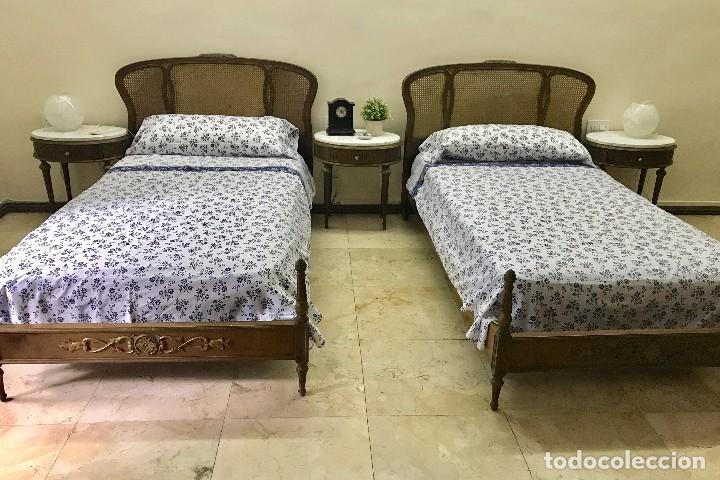 juego de dos camas madera de nogal estilo luis - Comprar Camas ...