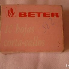 Antigüedades: CAJA CUCHILLAS BETER PARA CALLOS. Lote 91284780