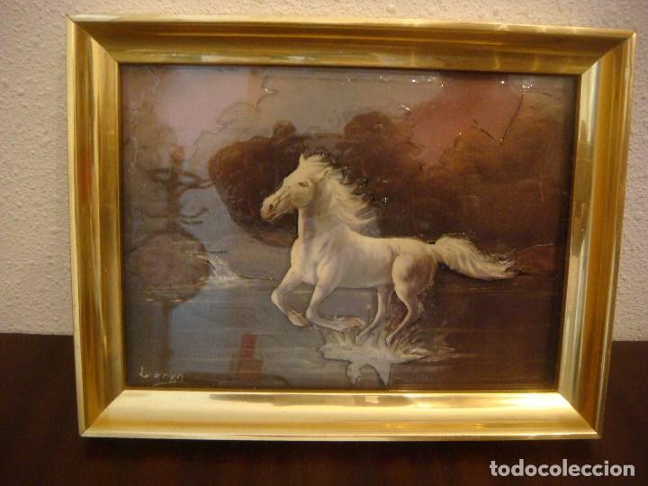 cuadro en 3 dimensiones caballos con cristal ( - Comprar Marcos ...