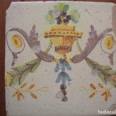 Antigüedades: AZULEJO VALENCIANO SIGLO XVIII. Lote 91312510