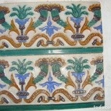 Antigüedades: PAREJA DE AZULEJOS SIGLO XIX. Lote 91312760