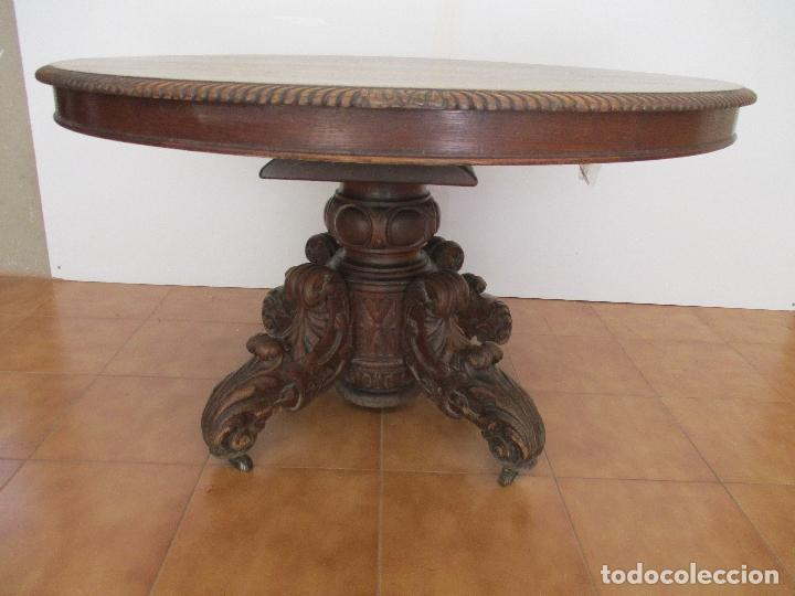 Antigua mesa de comedor extensible madera d comprar for Mesa madera antigua