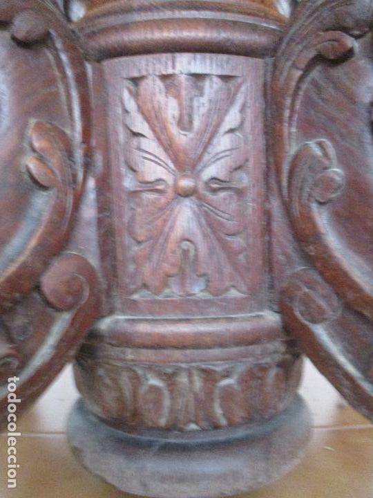 Antigüedades: Antigua Mesa de Comedor - Extensible - Madera de Roble - Pata de Bola, Tallada - Francia - S. XIX - Foto 7 - 91328305