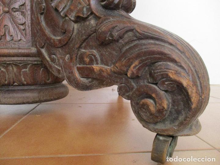 Antigüedades: Antigua Mesa de Comedor - Extensible - Madera de Roble - Pata de Bola, Tallada - Francia - S. XIX - Foto 10 - 91328305