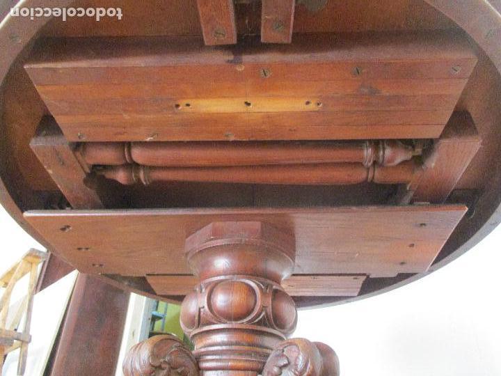 Antigüedades: Antigua Mesa de Comedor - Extensible - Madera de Roble - Pata de Bola, Tallada - Francia - S. XIX - Foto 12 - 91328305