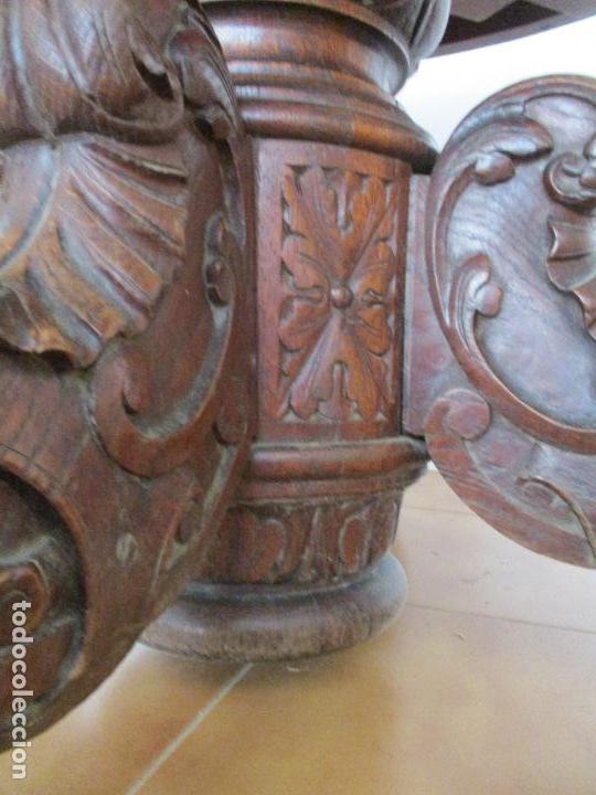 Antigüedades: Antigua Mesa de Comedor - Extensible - Madera de Roble - Pata de Bola, Tallada - Francia - S. XIX - Foto 13 - 91328305