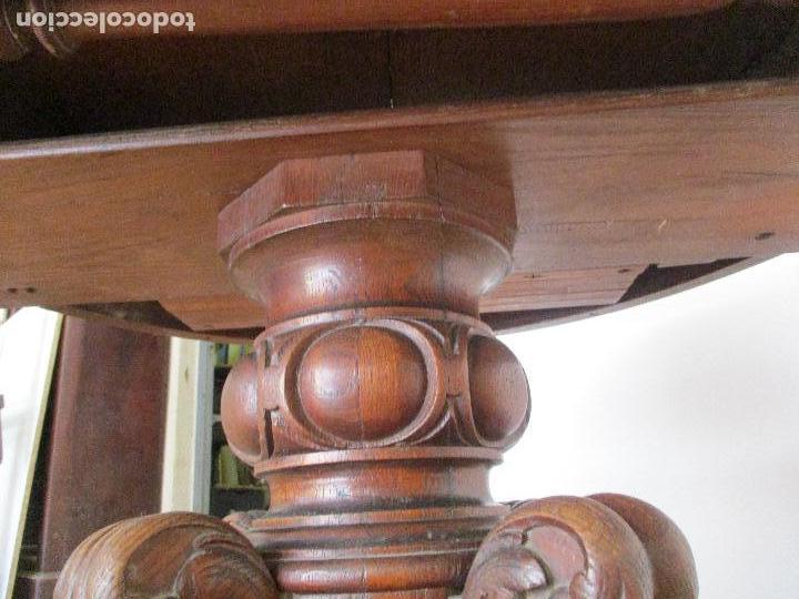 Antigüedades: Antigua Mesa de Comedor - Extensible - Madera de Roble - Pata de Bola, Tallada - Francia - S. XIX - Foto 15 - 91328305