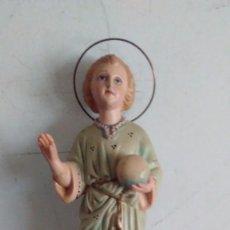Antigüedades: FIGURA IMAGEN DEL NIÑO JESÚS DE LA BOLA POLICROMADO. Lote 91370085
