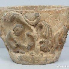 Antigüedades: BONITO MACETERO SIGUIENDO MODELO MEDIEVAL CON ESCENAS AGRICOLAS. Lote 91402585