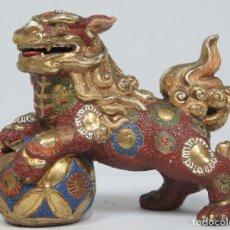 Antigüedades: ANTIGUO Y GRAN PERRO DE FOO. SATSUMA. JAPON. SIGLO XIX. Lote 91403380
