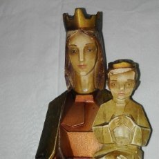 Antigüedades: IMAGEN VIRGEN CON NIÑO ANTIGUA. Lote 91492170