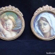 Antigüedades: ANTIGUOS CAMAFEOS RELIGIOSOS DE FORMA REDONDEADA . Lote 91494910
