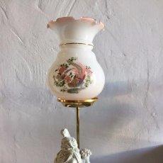 Antigüedades: LÁMPARA DE PORCELANA. Lote 91497280