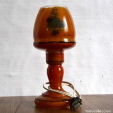Antigüedades: ANTIGUA LAMPARA DE CRISTAL PINTADO DE SOBREMESA * 25,5CM ALTO. Lote 91503710