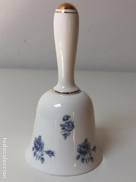 CAMPANA DE SOBREMESA, PORCELANA INGLESA - FINE BONE CHINA, GORRINGES (Antigüedades - Porcelanas y Cerámicas - Inglesa, Bristol y Otros)