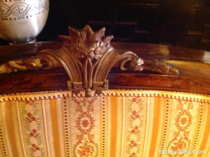 Antigüedades: Antigua Cabecera Cama Estilo Imperio Y Colcha A Juego - Foto 3 - 91564175