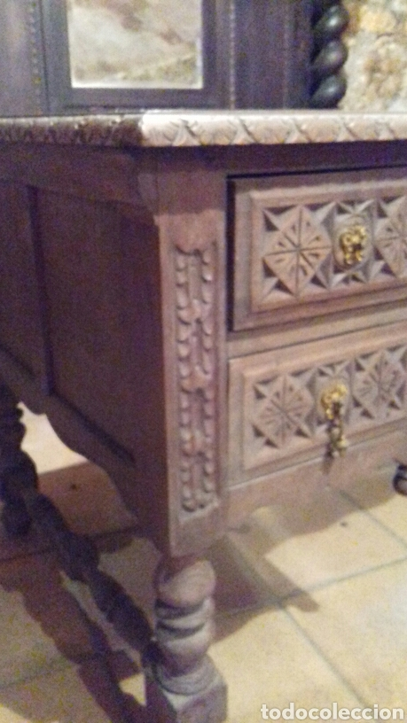 Antigüedades: mesa de despacho escritorio - Foto 2 - 91586009