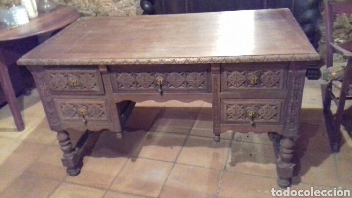 Antigüedades: mesa de despacho escritorio - Foto 3 - 91586009