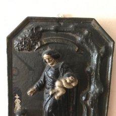 Antigüedades: ANTIGUO RETABLO RELIGIOSO SAN VICENTE FERRER. S.XIX . Lote 91613340