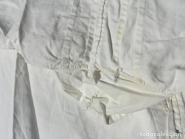 Antigüedades: Antiguo camison de dormir, de Algodon fino., ideal coleccionistas ropa interior. Midè 115cms largo - Foto 5 - 275856393