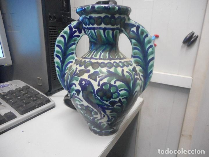 JARRON PORCELANA O CERAMICA FAJALAUZA MUY BUEN ESTADO DIFICIL FORMA (Antigüedades - Porcelanas y Cerámicas - Fajalauza)