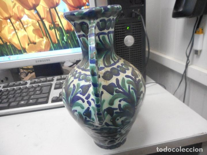 Antigüedades: jarron porcelana o ceramica fajalauza muy buen estado dificil forma - Foto 3 - 101027032