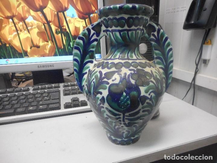 Antigüedades: jarron porcelana o ceramica fajalauza muy buen estado dificil forma - Foto 4 - 101027032