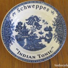Antigüedades: PEQUEÑO PLATO WEDGWOOD & CO. ENGLAND. PONE SCHWEPPES, INDIAN TONIC. Lote 91659530