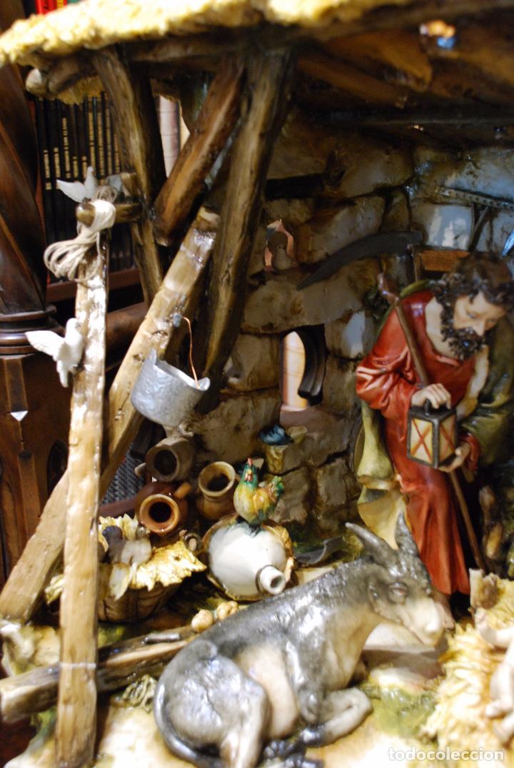 Antigüedades: EXTRAORDINARIO NACIMIENTO EN PORCELANA DE CAPODIMONTE - SELLADA Y FIRMADA POR AUTOR - - Foto 8 - 91685830