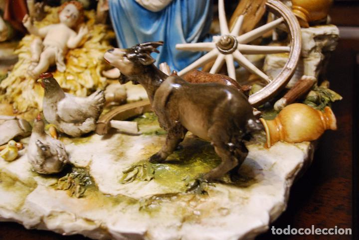 Antigüedades: EXTRAORDINARIO NACIMIENTO EN PORCELANA DE CAPODIMONTE - SELLADA Y FIRMADA POR AUTOR - - Foto 9 - 91685830