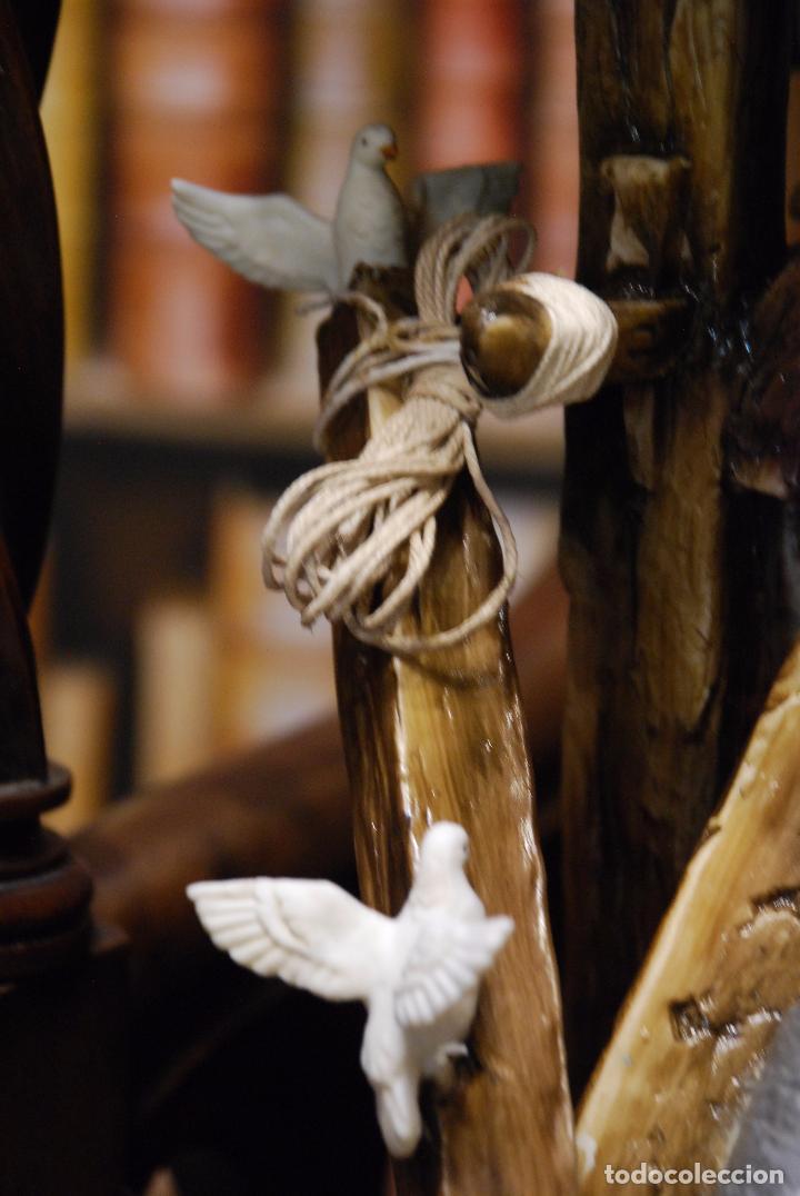 Antigüedades: EXTRAORDINARIO NACIMIENTO EN PORCELANA DE CAPODIMONTE - SELLADA Y FIRMADA POR AUTOR - - Foto 13 - 91685830