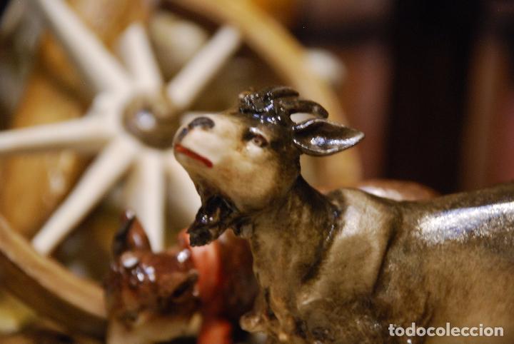 Antigüedades: EXTRAORDINARIO NACIMIENTO EN PORCELANA DE CAPODIMONTE - SELLADA Y FIRMADA POR AUTOR - - Foto 16 - 91685830