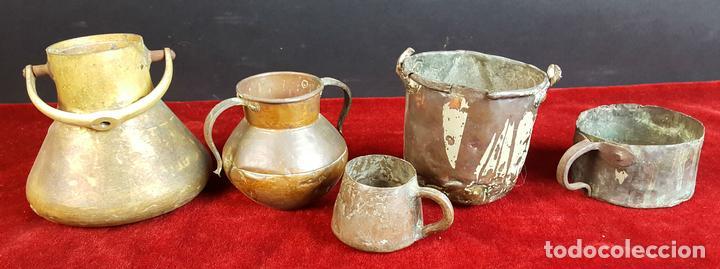 lote de 5 utensilios de cocina en cobre y bronc - Comprar Utensilios ...