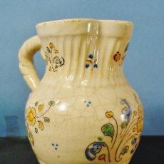 Antigüedades: MUY BONITA JARRA EN CERÁMICA DECORADA. NIVEIRO, TALAVERA. MARCA EN LA BASE. 16 CM ALTURA. . Lote 91696705