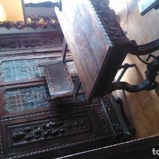 Antigüedades - Excepcional despacho de nogal perteneciente a un conocido arquitecto modernista/novecentista - 91703295