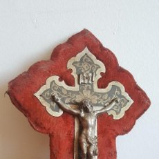 Antigüedades: CRISTO ANTIGUO PLATEADO.. Lote 91711030